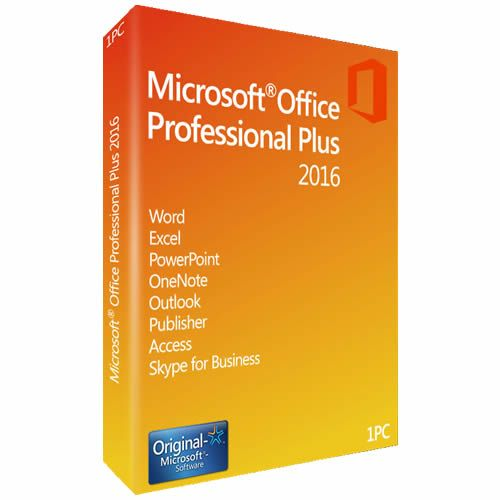 Microsoft Office 2016 Professional Plus Vollversion