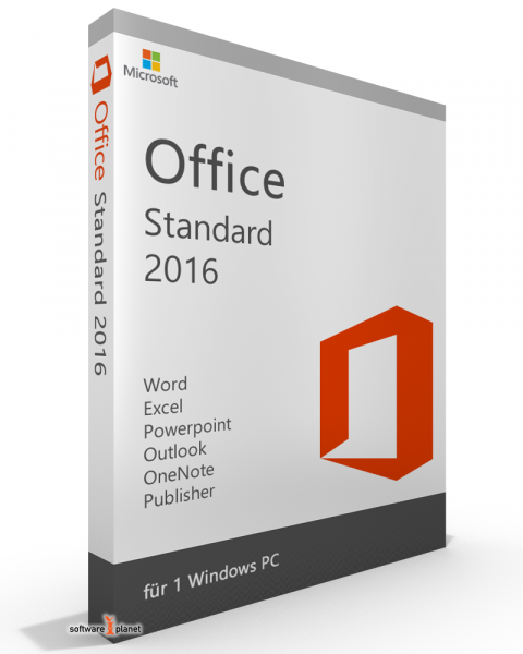 Microsoft Office 2016 Standard Vollversion
